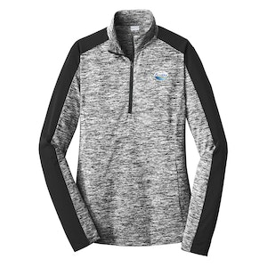 Sport-Tek Ladies PosiCharge Electric Heather Colorblock 1/4-Zip Pullover