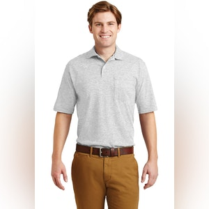 JERZEES -SpotShield 5.6-Ounce Jersey Knit Sport Shirt with Pocket. 436MP