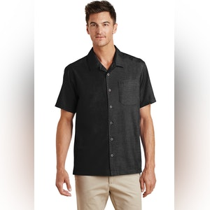 Port Authority Textured Camp Shirt. S662