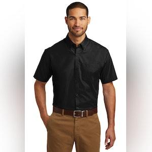 Port Authority Short Sleeve Carefree Poplin Shirt. W101