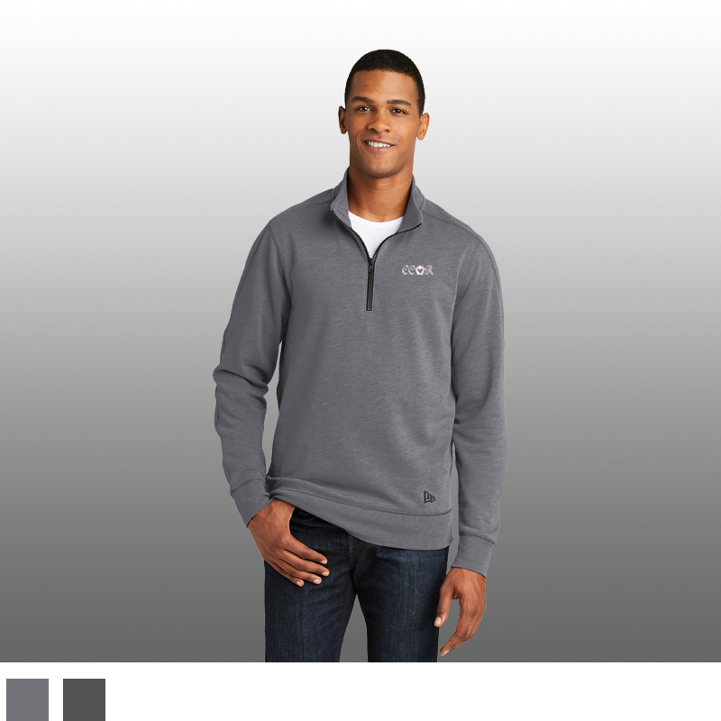 New Era® Tri-Blend Fleece 1/4-Zip Pullover