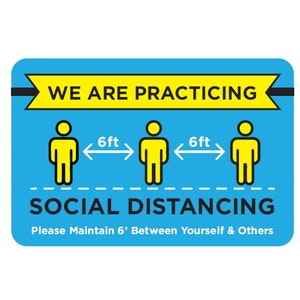 Social Distancing Window Cling