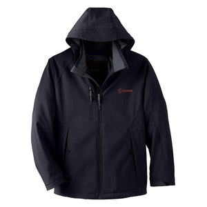 Men's Insulated Three-Layer Soft Shell Jacket w/Detachable Hood