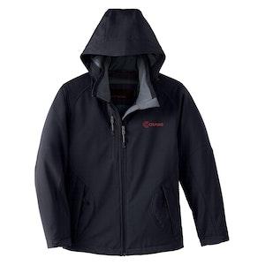 Ladies' Insulated Three-Layer Soft Shell Jacket w/Detachable Hood
