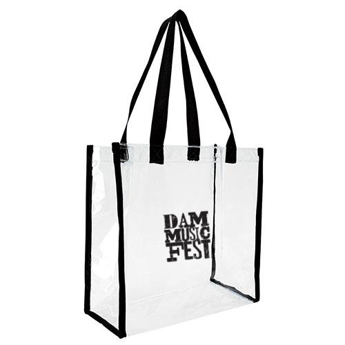Good Value Clear Game Tote Bag- BLACK $10.00