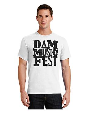 WHITE DMF LOGO T SHIRT $22.00