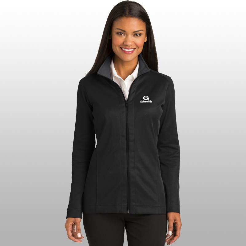 Port Authority® Ladies Vertical Texture Full-Zip Jacket