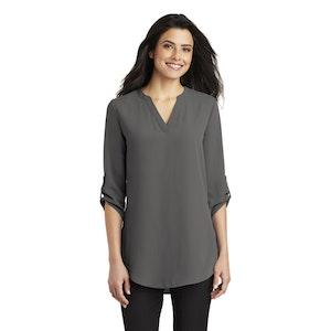 Port Authority Ladies 3/4 Sleeve Tunic Blouse. LW701
