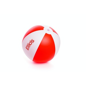 Red and White Logo Beach Ball