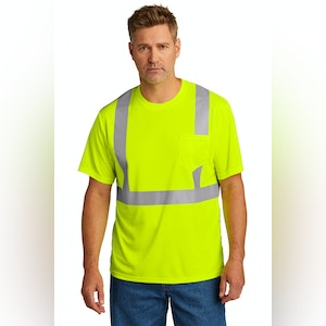 ANSI Class 2 Mesh Tee-Short Sleeve with Pocket