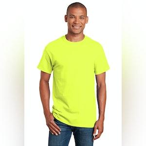Gildan S/S Hi-Vis T-Shirt-Safety Green/Safety orange