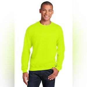 Gildan Hi-Vis  8 oz. 50/50 Cotton Blend Crew Neck Sweatshirt