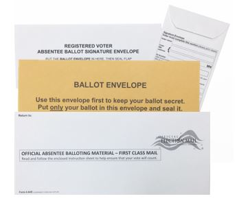 Absentee Voter Envelopes