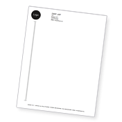 Accent Opaque Smooth White Letterhead