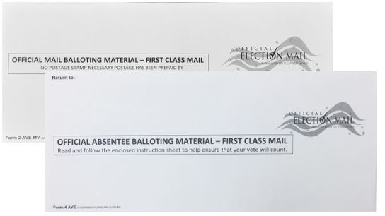 Mail Ballot Voter Envelopes