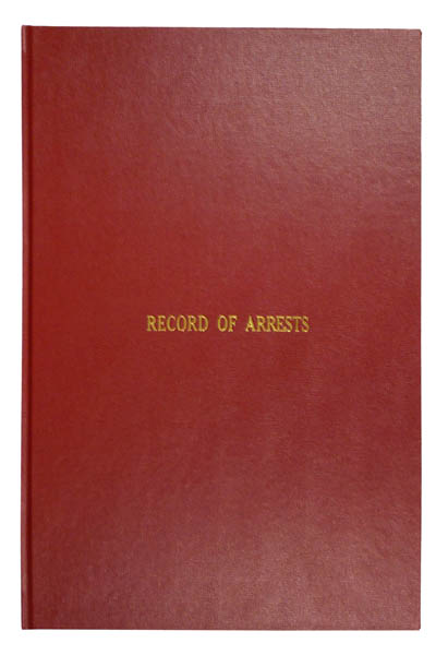 Record of Arrest Book