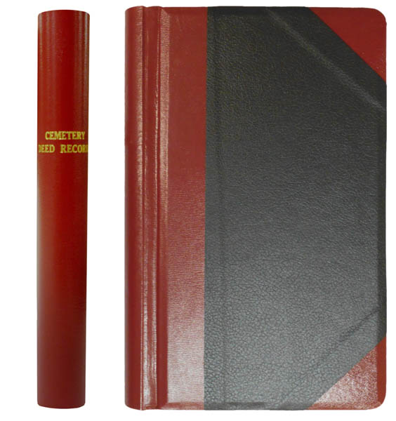 Cemetery Deed Record Minute Book