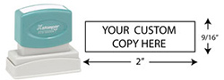 N13 - Custom Medium Return Address/Message Stamp
