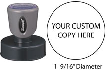 "N53 - 1-9/16"" Large Round Message Stamp"