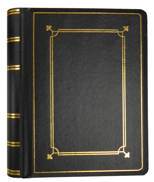 Black Imitation Leather Minute Book