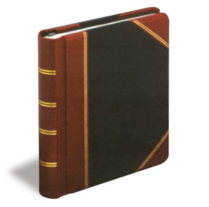 Red & Black Imitation Leather (Half-Russia) Minute Book