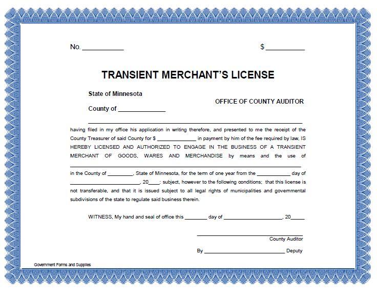 Transient Merchant License