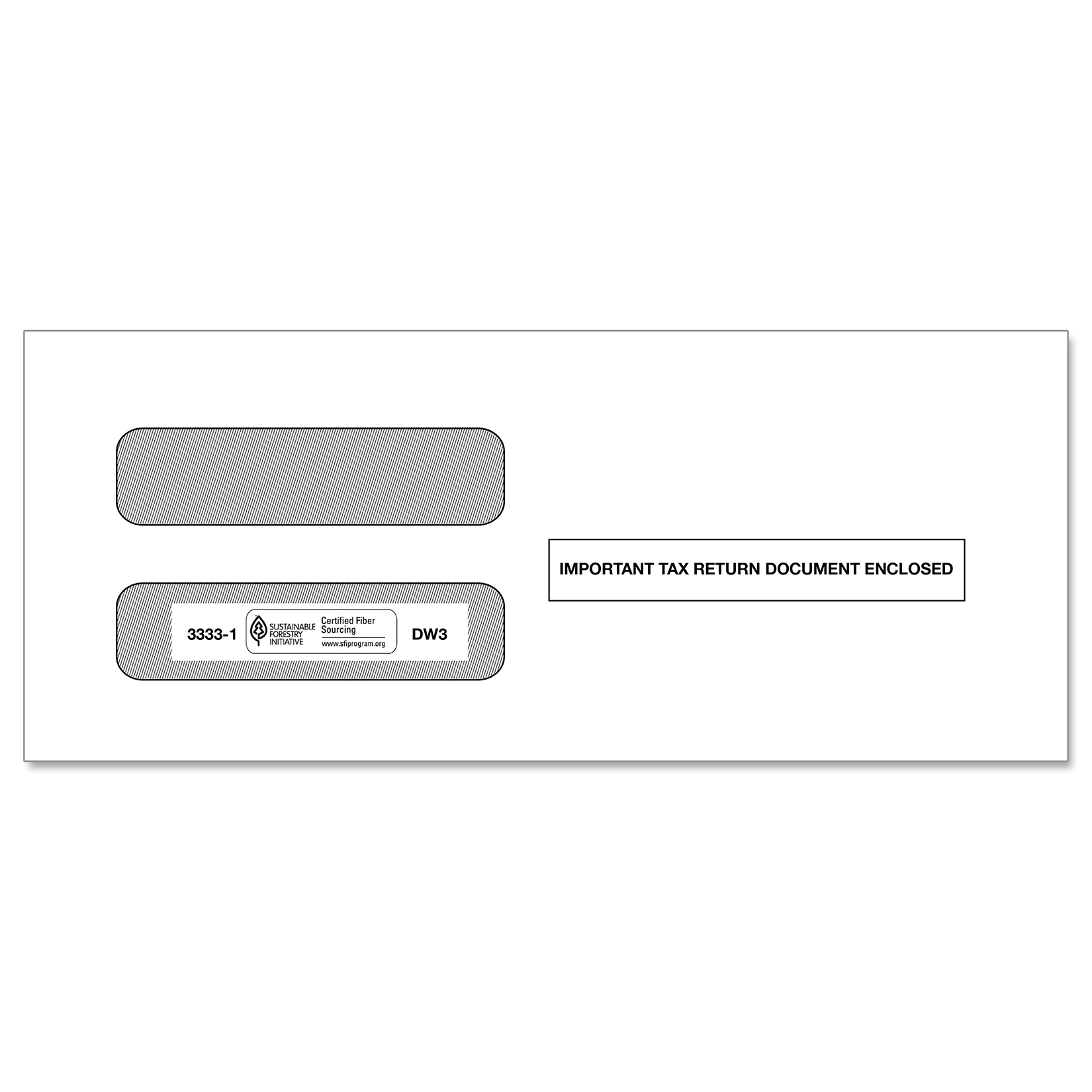 Double Window Envelope for 3-Up Laser W2s