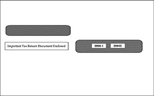 Double Window Envelope for Laser 4-Up W2s