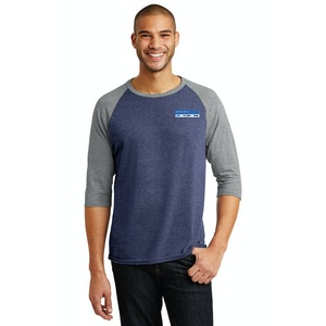 Anvil Tri-Blend 3/4-Sleeve Raglan Tee. AN6755