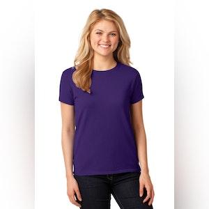 Gildan Ladies Heavy Cotton 100% Cotton T-Shirt. 5000L