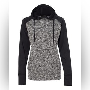 Women's Colorblocked Cosmic Fleece Hooded Sweatshirt