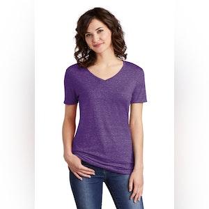 JERZEES  Ladies Snow Heather Jersey V-Neck T-Shirt 88WV