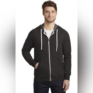 District  Perfect Tri  French Terry Full-Zip Hoodie. DT356