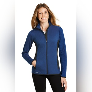 Eddie Bauer Ladies Full-Zip Heather Stretch Fleece Jacket. EB239