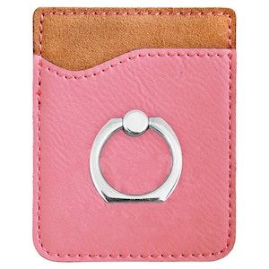 LEATHER PHONE WALLET W/ RING