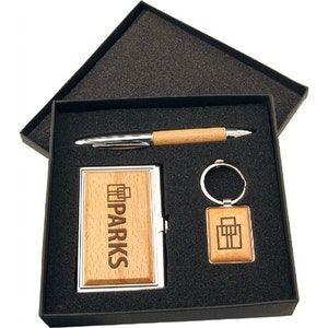 WOOD GIFT SET CARD & PEN