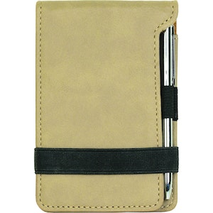 LEATHERETTE PEN AND NOTEPAD