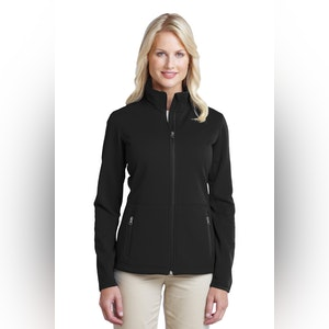 Port Authority Ladies Pique Fleece Jacket. L222