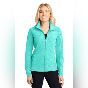 Port Authority Ladies Heather Microfleece Full-Zip Jacket. L235