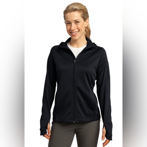 Sport-Tek Ladies Tech Fleece Full-Zip Hooded Jacket. L248