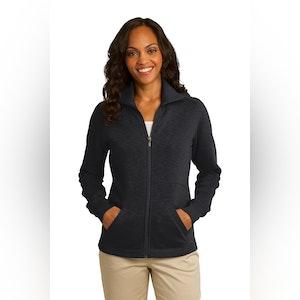 Port Authority Ladies Slub Fleece Full-Zip Jacket. L293
