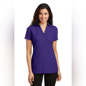 Port Authority Ladies Silk Touch Y-Neck Polo. L5001
