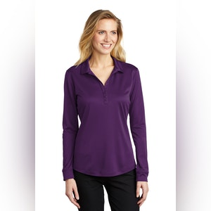Port Authority  Ladies Silk Touch   Performance Long Sleeve Polo. L540LS