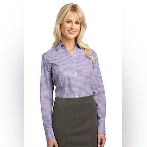 Port Authority Ladies Plaid Pattern Easy Care Shirt. L639