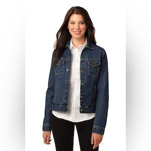 Port Authority Ladies Denim Jacket. L7620