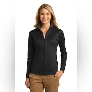 Port Authority Ladies Vertical Texture Full-Zip Jacket. L805