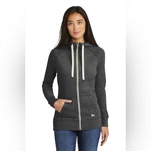 New Era  Ladies Sueded Cotton Blend Full-Zip Hoodie. LNEA122