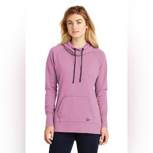 New Era  Ladies Tri-Blend Fleece Pullover Hoodie. LNEA510