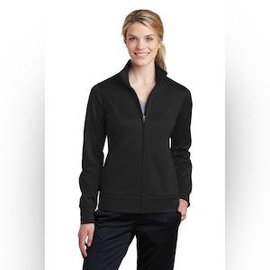 Sport-Tek Ladies Sport-Wick Fleece Full-Zip Jacket.  LST241