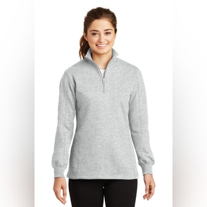 Sport-Tek Ladies 1/4-Zip Sweatshirt. LST253